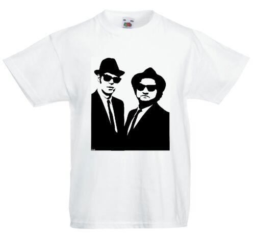 T SHIRT T-SHIRT Black /& white stencil BLUES BROTHERS STENCIL