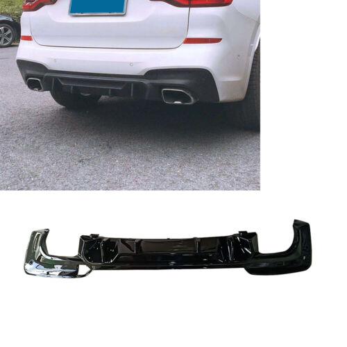 PP Glossy Black Rear Bumper Diffuser Splitter Valance For BMW X3 SPORT 2018-19