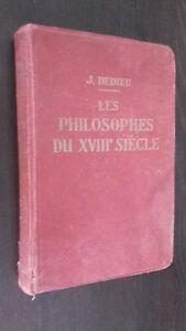 Las Filósofos de La XVIII Siglo J. Davis A. Hatier 1945 Frontispicio Buen Estado