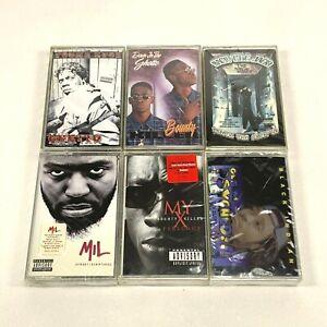 Lot-6-Cassette-Tapes-Explicit-Rap-Hip-Hop-90-039-s-Bounty-Killer-Black-Indian-SEALED