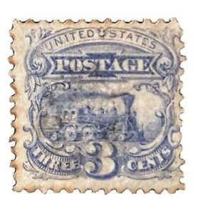 US-Stamp-114-Used-H-No-Postmark-Grill