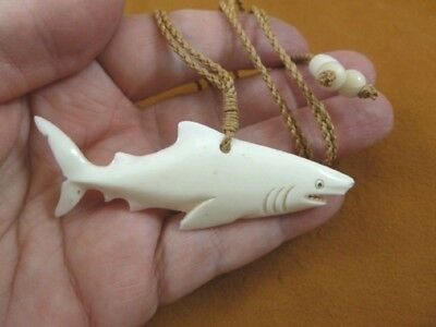 Hammerhead Shark Aceh Bovine Bone Carved Pendant Jewelry Necklace J Shark 6