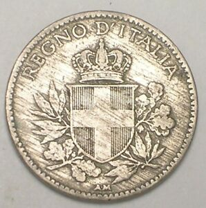 1919-Italy-Italian-20-Centesimi-Savoy-Shield-WWI-Era-Coin-F