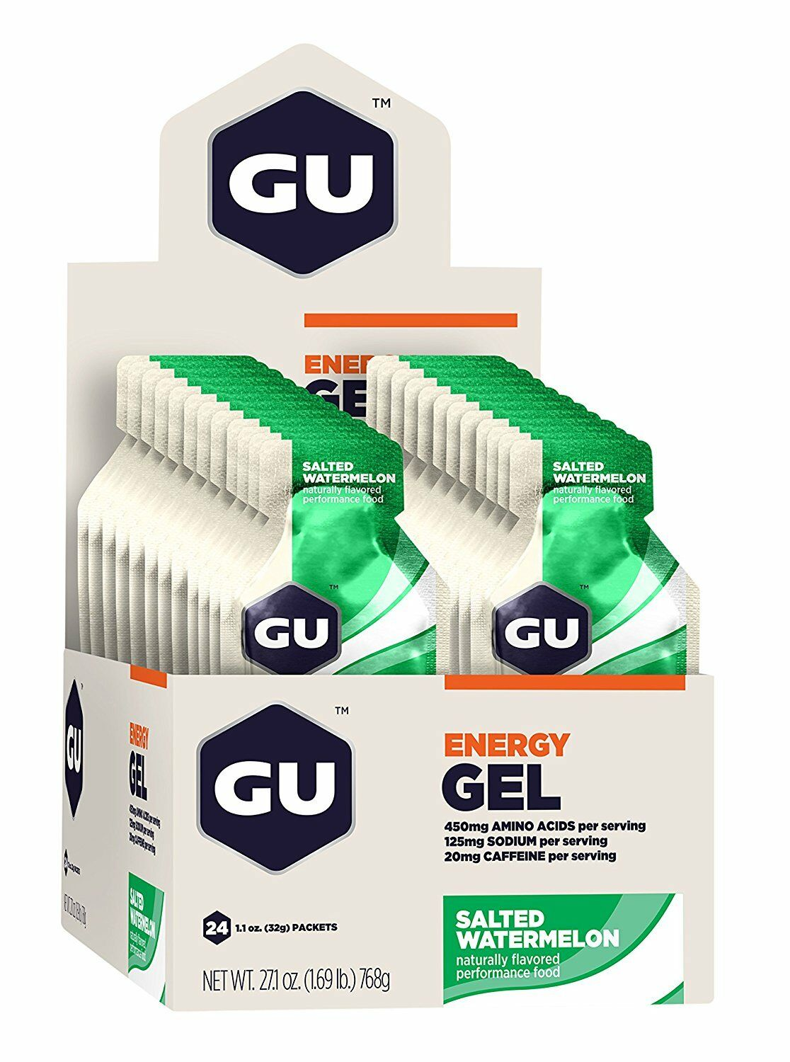 GU Energy Gel Salted Watermelon Box of 24