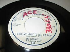 """SILHOUETTES I Sold My Heart To the Junkman 45 7"""" NM ACE 1958 DOO WOP R&B LISTEN"""