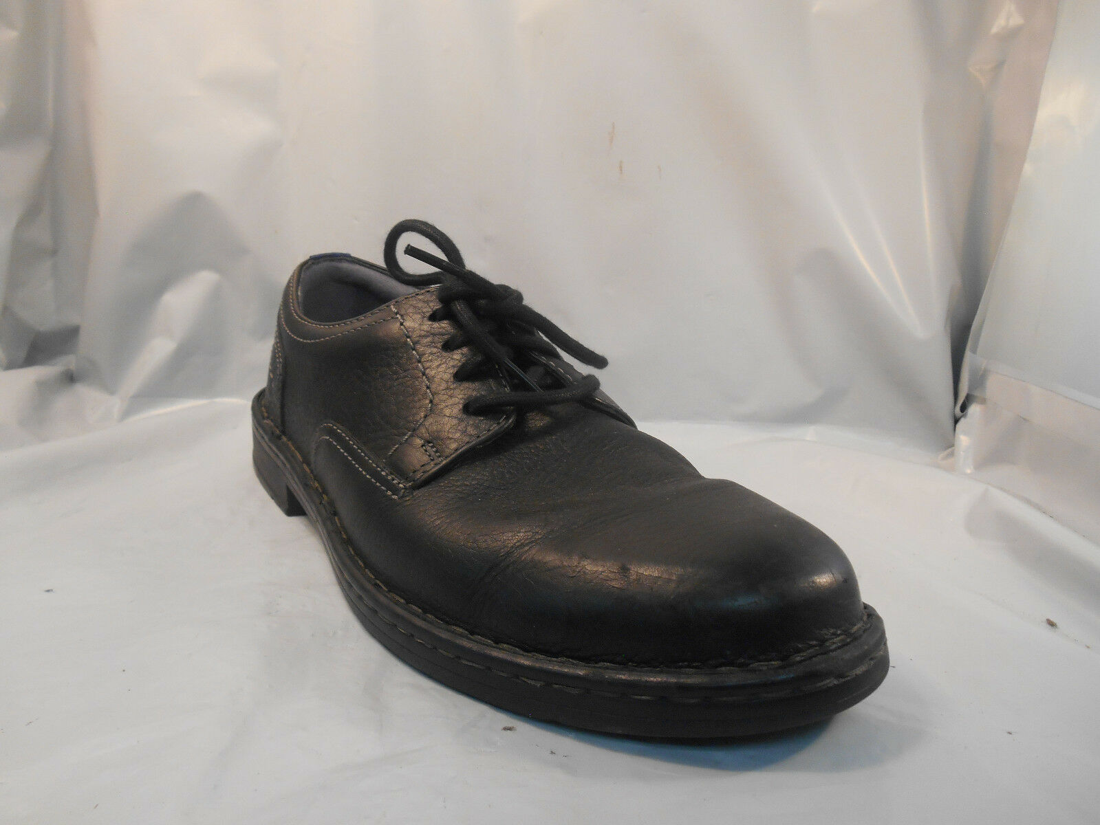 Clarks Kyros Black Leather Plain Toe Oxfords Men's Sz 10.5 M