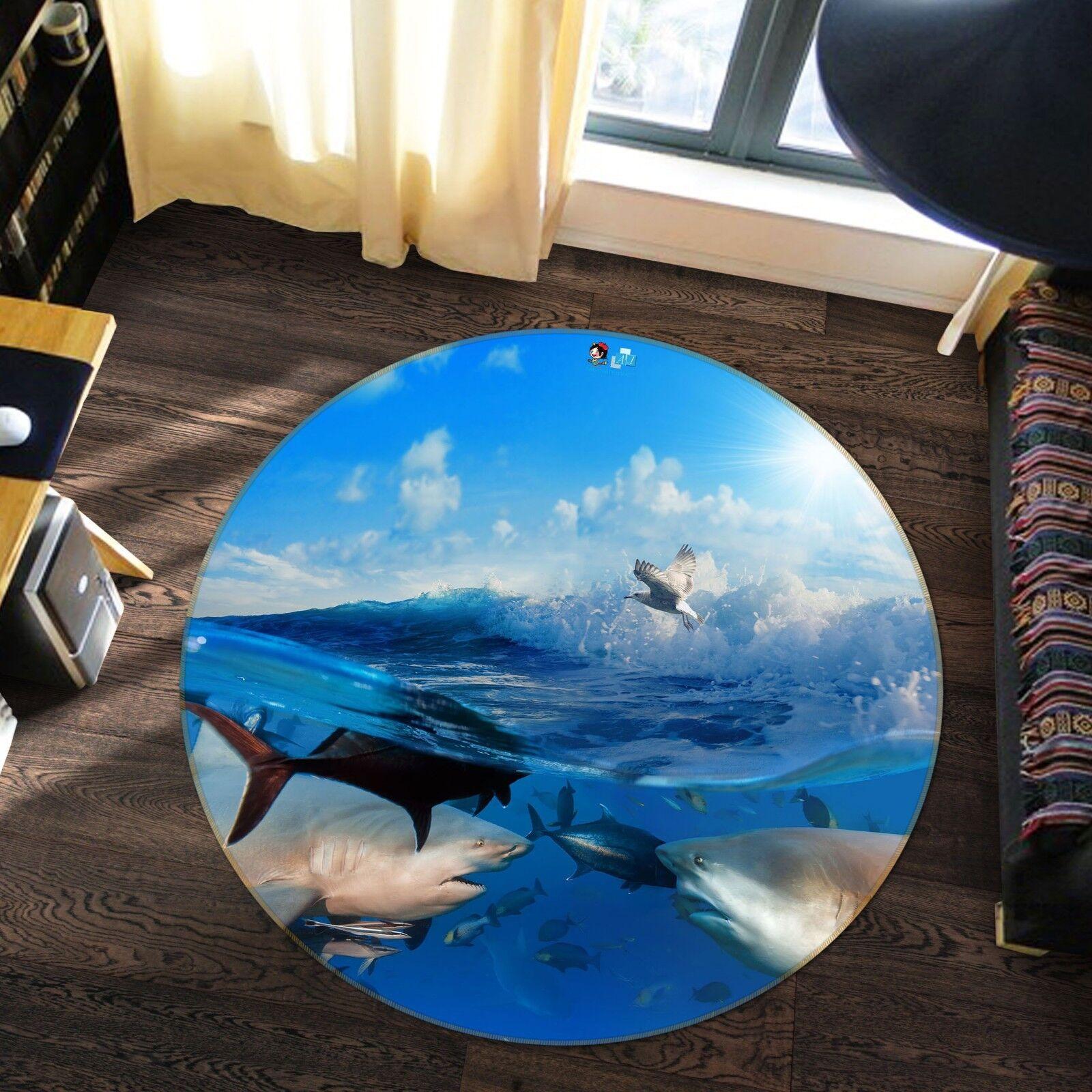 3D Delfino Oceano 11 Pavimento Antiscivolo Tappeti Elegante Tappeto IT Carly