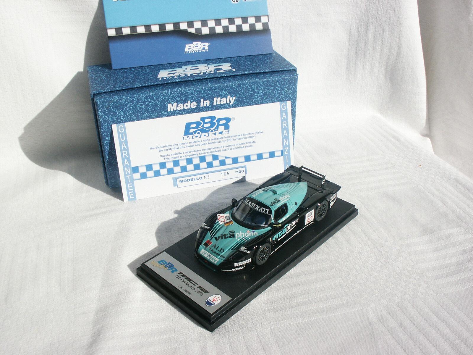 PROMO MASERATI MC12 BABINI BIAGI 3eme FIA GT MONZA 2005 165 300 bbr 1 43