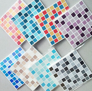 Image Is Loading Self Adhesive Mosaic Tile Stickers Transfers Transform Bathroom