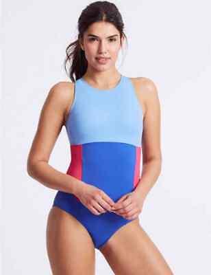 Black BNWT M/&S ZIP UP SPORTS Swimming Costume Secret Slimming 10 12 18 20 Blue