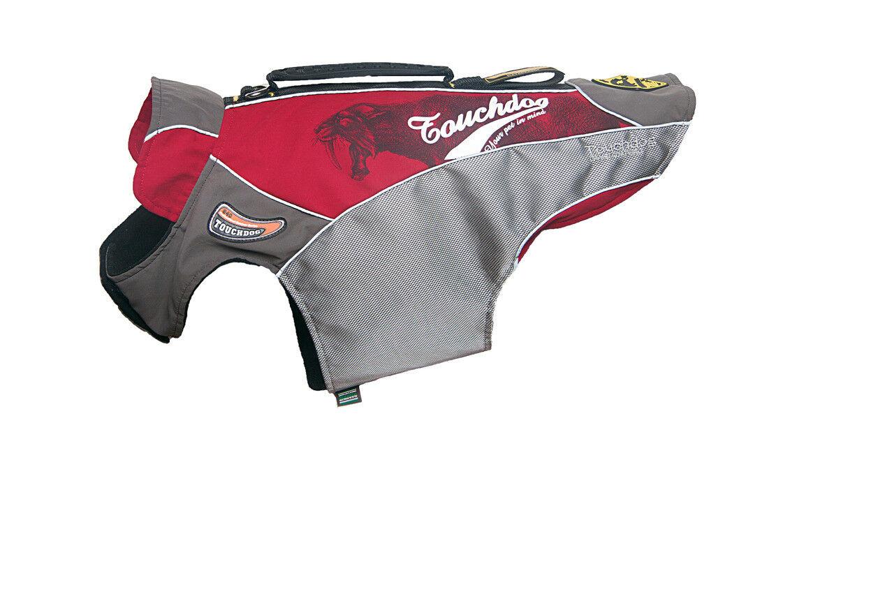 Karlie Hundemantel Touchdog Outdoormantel mit Griff 47 cm rot   | Am praktischsten