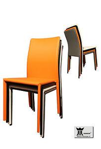 Dettagli su Sedia ecopelle moderna pvc sedie design cucina soggiorno BELLA  E ROBUSTA
