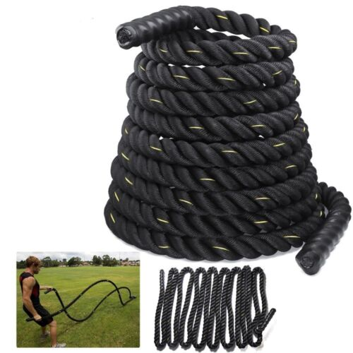 15m Battle Rope 38mm Battling Bootcamp Gym Exercise Fitness Training Workout