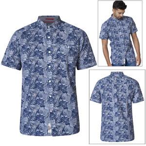 7bf6c1c46 Duke D555 Mens King Size Big Tall Sheldon Hawaiian Shirt Leaf Print ...