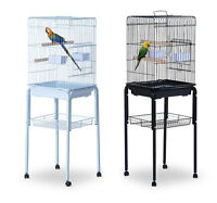51 Bird Cage Large Parrot Play Cockatiel House Metal Stand Doors W/ Wheel