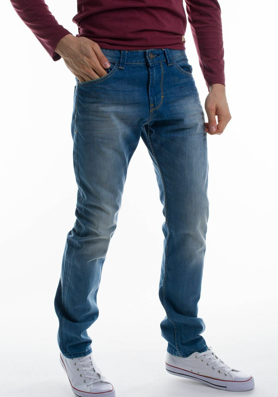 69 Tom Tailor Uomo Troy 6203027 Sbiadito Slim Jeans Taglia W32  L32  100% AUTENTICO