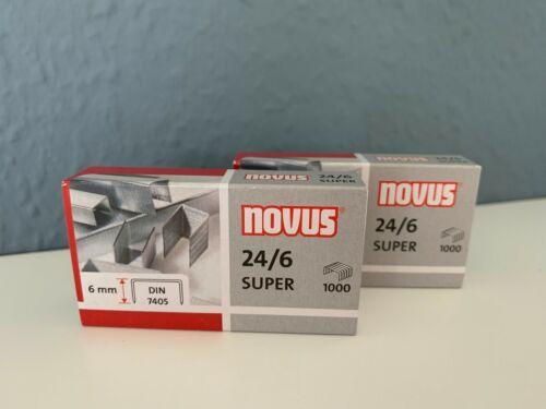 Novus Heftklammern Tackerklammern 24//6 Breite 6mm verzinkt 2 x 1000 Stück