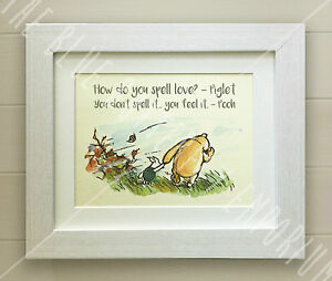 Winnie The Pooh Framed Quote Print Baby Nursery Picture Gift Bear