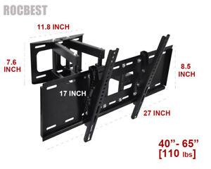 Heavy-Duty-Full-motion-Swivel-Tilt-TV-Wall-Mount-40-42-46-50-55-60-65