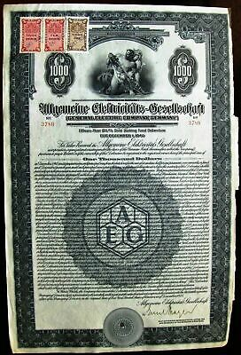 $500 Gold bond 1926 German Berlin Electric /& Underground Railways