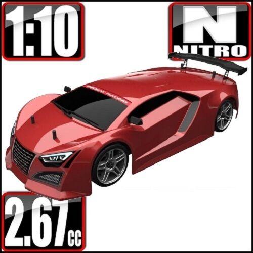 Rossocat Racing Lightning STR 1/10 Scale Nitro Road Car rosso 2 Speed 1:10 rc car