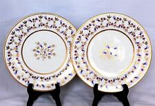 SET 2 ANTIQUE C.1815 FLIGHT, BARR & BARR FBB WORCESTER PORCELAIN PLATES