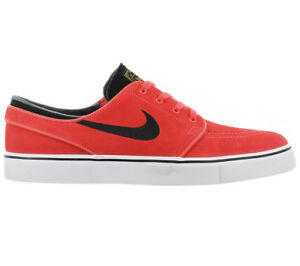 Nike Zapatillas Rojo Stefan Hombre Janoski Zoom De Cuero Skate Zapatos RwRr6S