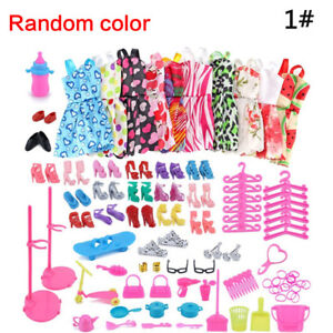 83Pcs-Lot-Fashion-Handmade-Party-Dress-Clothes-Outfits-For-Barbie-set-Dolls