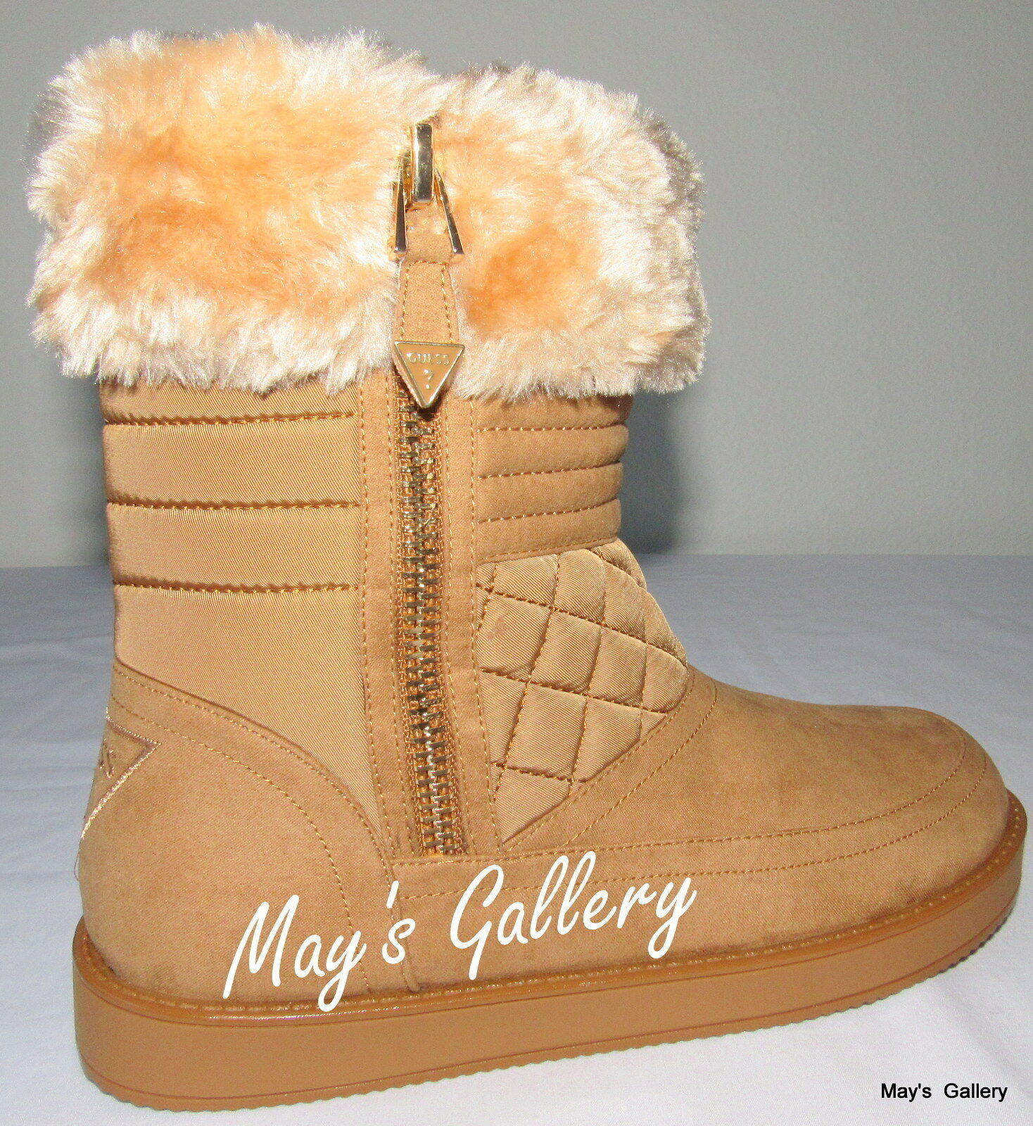 GUESS High Top Faux Fur Trimmed shoes shoes Suede Booties Boot  Boots  Ankle 9