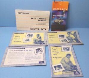01 2001 toyota echo owners manual ebay rh ebay com Manual Echoj Toyota 2001 Jornrepair 2000 toyota echo owners manual