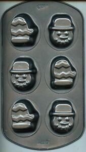 Winter 6 Cavity Wilton Mini Cakes Pan Snowman Amp Mittens
