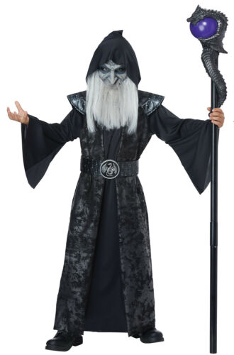 Brand New Evil Dark Wizard Scary Child Costume