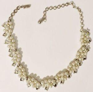 collier-ancien-bijou-vintage-signe-couleur-argent-poli-et-perles-necklace-3964