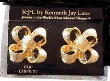KJL Kenneth Jay Lane Haute Big Bow Goldtone Clip-On Earrings