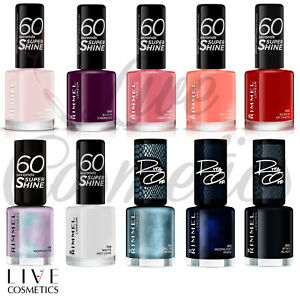 RIMMEL 60 SECONDS Nail Polish / Varnish 8ml Super Shine  *CHOOSE YOUR SHADE*