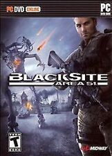 BLACKSITE AREA 51 Black Site Alien Shooter PC Game NEW!