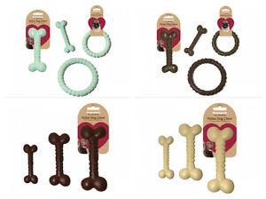 Rosewood-Nylon-Nylabone-Style-Dog-Chew-Bone-Shape-Tough-Toy-Chicken-Chocolate-Be