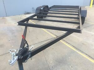 BRAND-NEW-Car-Trailer-CHASSIS-Tandem-axle-16X6-6FT-USE4-RACE-NO-RAMPS-OR-PAINT