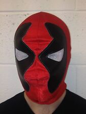 Red Deadpool Spandex Mask mexican wrestling fancy dress Halloween Adult Child's