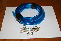 Puch Moped Carburetor 3/16 Id Fuel Line Clamps Blue 5 Ft And 15 Clamps