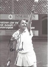 Autogramm AK Heike Rusch Tennis Tennisprofi handsigniert sw Karte 1 90er
