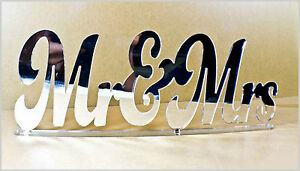 Details about Personalised Mr & Mrs PERSPEX Mirror Acrylic Standing Plaques  Signs Wedding