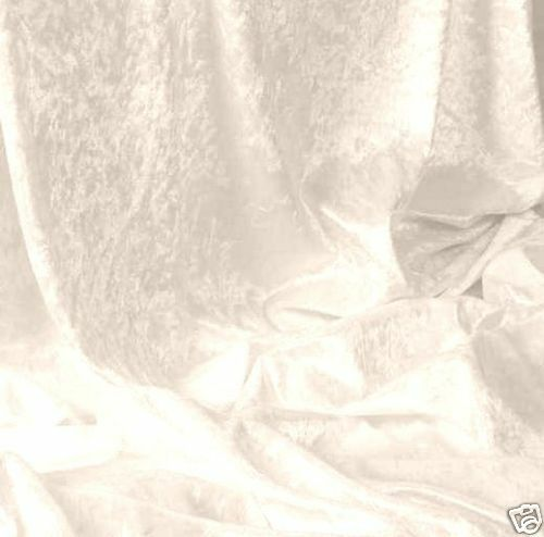 20m woll-weiß Pannesamt Samt Gardine Vorhang Meterware Stoff Deko Tolko