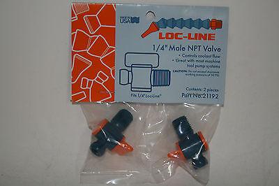 "LOC LINE #21192 1//4/"" MALE NPT VALVE 2PC PACK NEW"