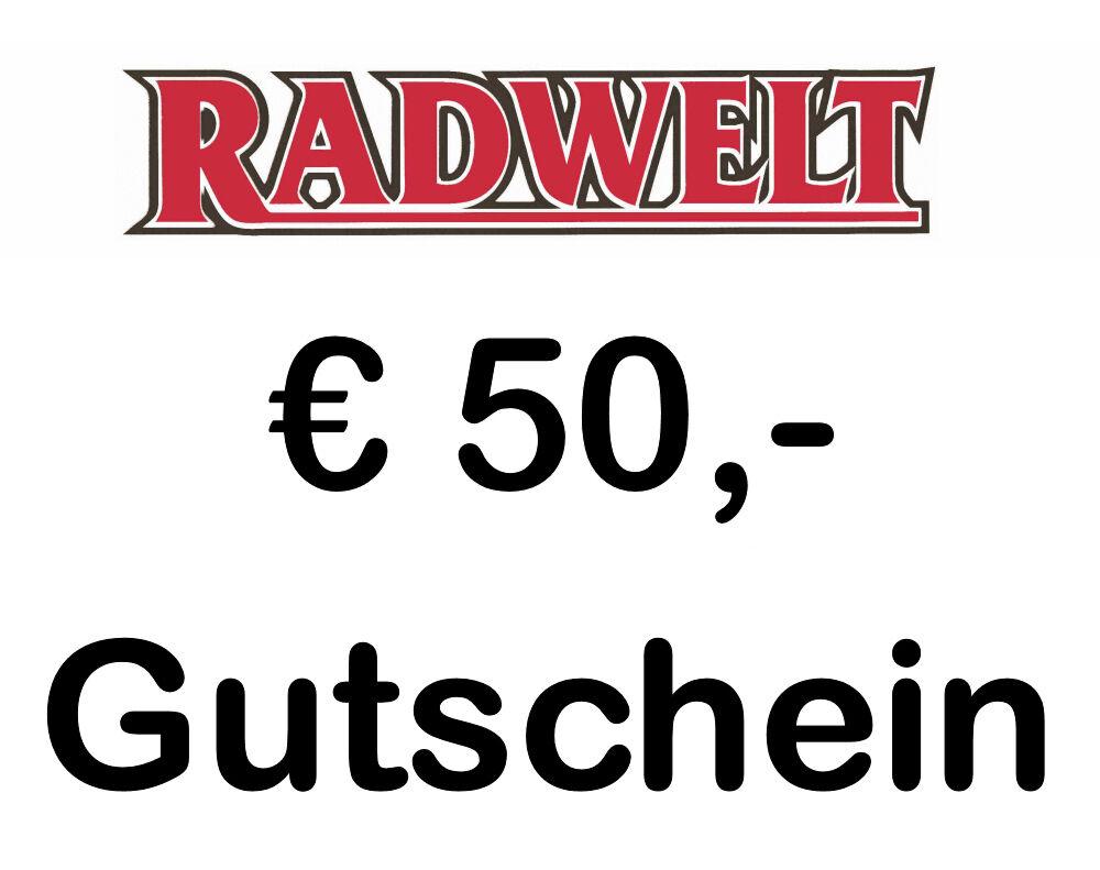 Geschenkgutschein Gutschein 50,-€RADWELT 99510 Apolda