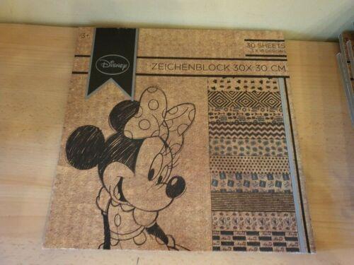 Disney Zeichenblock 30 cm x30 cm Micky Maus