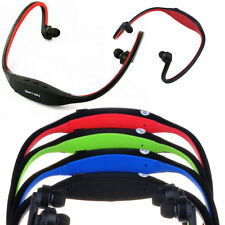 Wireless MP3 Player with FM Radio Headband Sports Gym in Red upto 32GB
