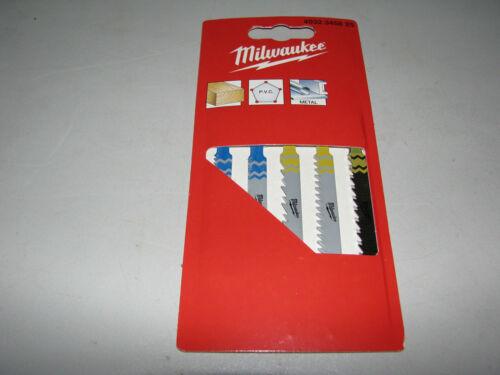 3x 5 Milwaukee Stichsägeblatt-Set 75 mm T 111C 144D 118A B Stichsäge Holz Metall