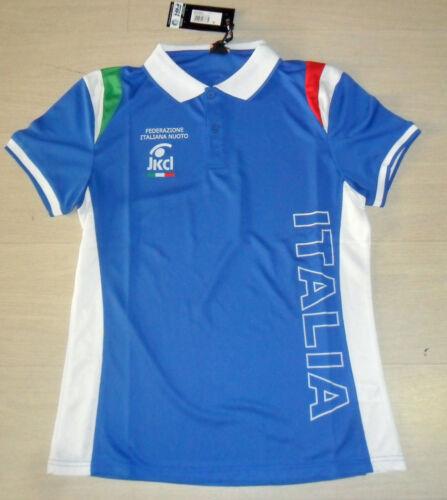 10065 JAKED FIN FEDERAZIONE ITALIANA NUOTO 2013 MAGLIA POLO UFFICIALE TEE SHIRT
