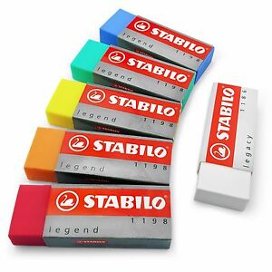 STABILO-Legacy-Legend-Coloured-Plastic-Rubber-Erasers-Pack-of-6-assorted